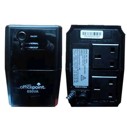 OfficePoint Back-Up UPS 650VA Black image 6