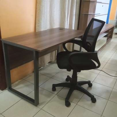 Peter Steel Frame Office Desk & Chair Combo