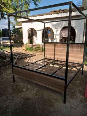 METAL FRAME BED WITH WOODEN FINISH FROM 3*6 TO 6*6 image 6