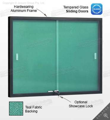 Buy Glass Sliding Noticeboard image 1