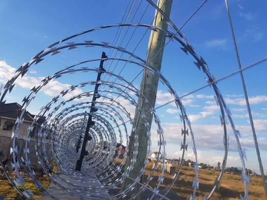Electric Fence and Razor wire installation... image 3