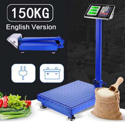150KGS Rechargeable High Accuracy Digital Weighing Platform Scale image 1