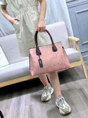 Designer pink quality handbag image 1