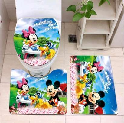 Cartoon themed bathroom mat sets image 3