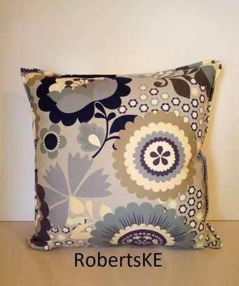 flowery throw pillow image 1