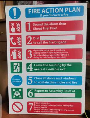 Fire Action Plan Boards. image 4