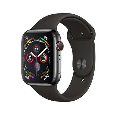 SEALED Apple Watch Series 4 44 mm Space Black Stainless Steel GPS CELLULA Sport