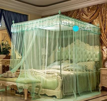 green four stand mosquito nets image 1
