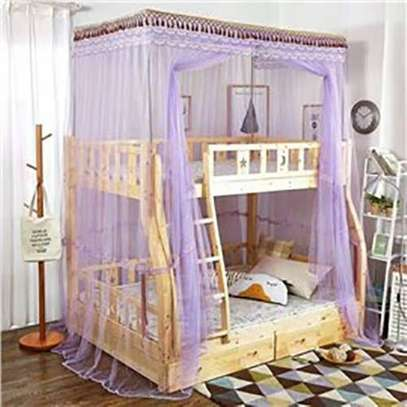 Double Decker Mosquito Net Free Size- (Purple,.)
