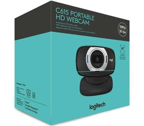 Logitech C615 Portable Webcam, Full HD 1080p/30fps, Widescreen HD Video Calling, Foldable, HD Light Correction, Autofocus, Noise Reduction, For Skype, FaceTime, Hangouts, PC/Mac/Laptop/Macbook/Tablet image 1