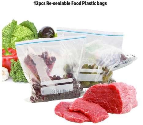 Reusable Re-Sealable Food Plastic Zipper Zip Lock Bags image 4