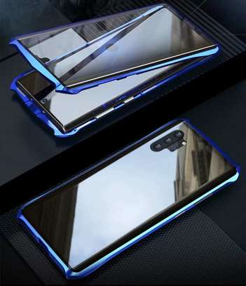 Magnetic Luxury Cases For Samsung Note 10 Note 10 Pro With Tempered Back Glass image 5