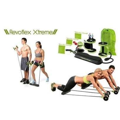 Revoflex Xtreme Home Total Body Fitness Abs Trainer Resistance Exercise Abdominal Trainer Workout image 1