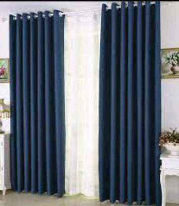 Navy Blue Linen Curtains image 1