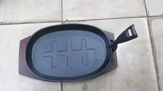 Cast iron steak pan/sizzling plate/cast iron sizzling plate/hot plate image 2