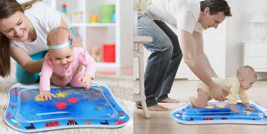 Baby inflatable water play mat.