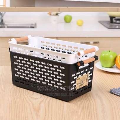 2 Pcs Multipurpose Home Pantry Storage Basket image 1