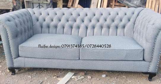 sofas/Modern three seater sofa/tufted sofa/tufted three seater sofa image 2