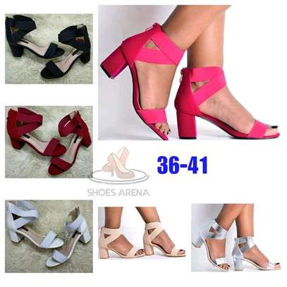 Affordable chunky low heels image 1