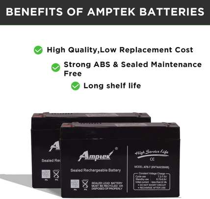6V 7AH rechargeable lead acid battery storage battery small toy car battery image 1