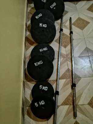 Gym Weights and benches image 5