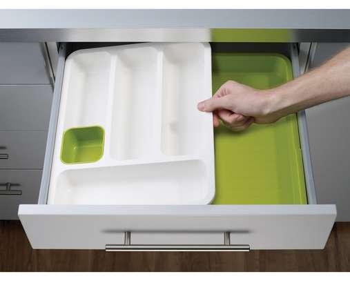 Plastic Expandable Cutlery Tray Drawer Storage Organizer image 2