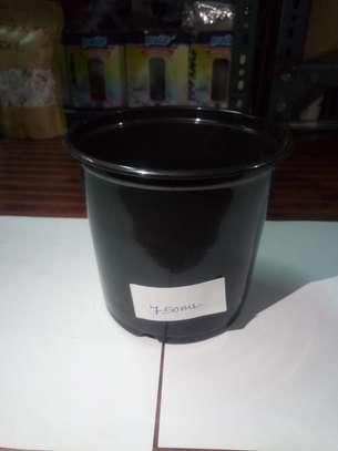 Reusable/Recyclable  Plastic Plant Seedling Flower Pots - 10 Pcs image 5