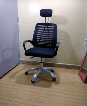 Office desk chair with headrest image 1