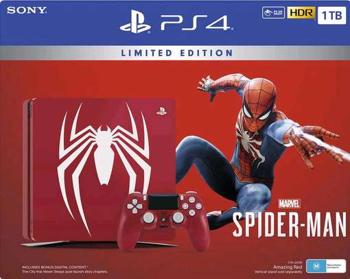 PS4 Slim - Spiderman Edition image 2