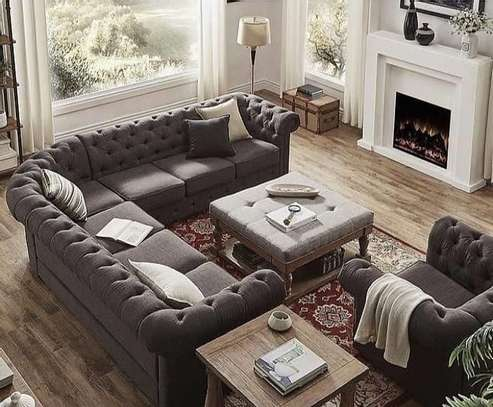 Eight seater chesterfield Sofa (7+1) image 1
