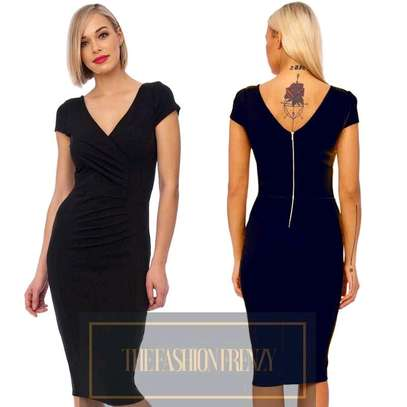 Black Cap Sleeved Bodycon