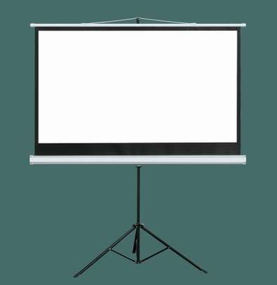 """Tripod Projection Screen """"60×60"""" image 1"""