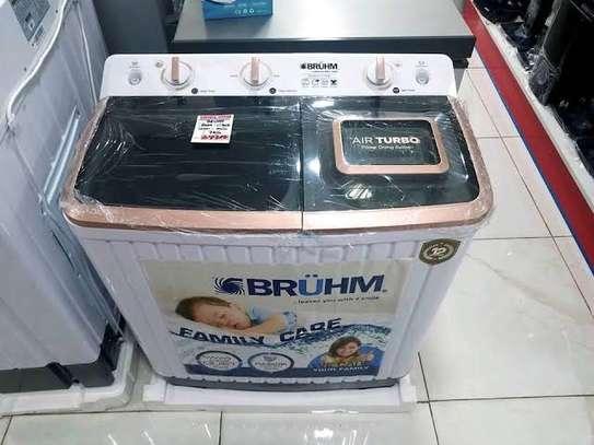 Bruhm 7kg washing machine twin tub semi automatic wash and spin image 1