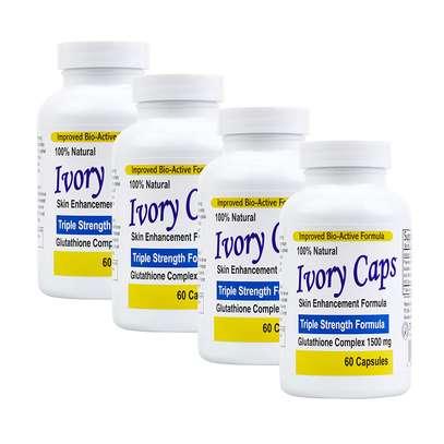 "4 Pack Ivory Caps **BEST VALUE**- Maximum Potency Glutathione 1500 ""Skin Whitening"" Complex"