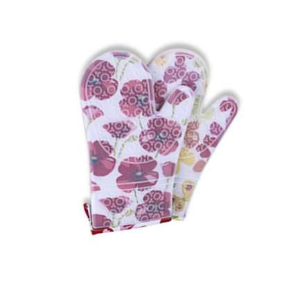 TB Floral Print Silicone Kitchen High Temperature Insulated Microwave Oven Gloves image 3