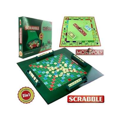 2 in 1 scrabble monopoly image 1