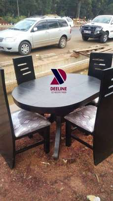 Black 4 Seater Dining Table sets image 12