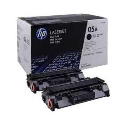 HP 05A Black Original LaserJet Toner Cartridge (CE505A) image 1