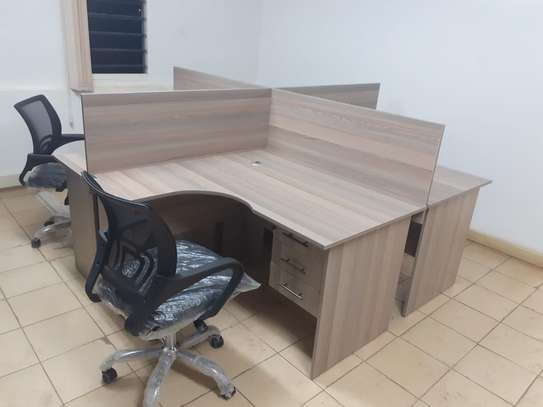 4 Way Workstation Office Desk