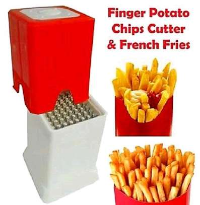 Chips cutter/fingers potato chips cutter/vegetable cutter/2 in1potato chipser image 2