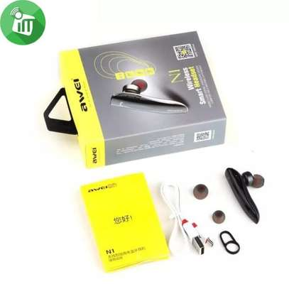 AWEI N1 Bluetooth Headphones Wireless Earphone Cordless Headset, Mic image 5