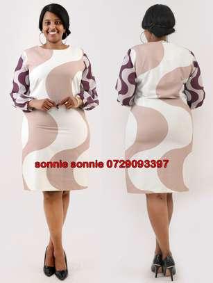 STRIPPED COLOR-BLOCK SHIFT TURKEY DRESS image 1