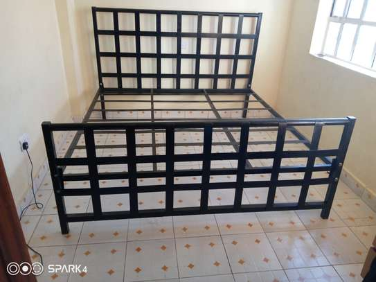METAL FRAME BED WITH WOODEN FINISH FROM 3*6 TO 6*6 image 14