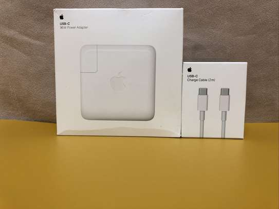 Apple 96W USB C Power Adapter MacBook Air/Pro Charger A2166 & 2M USBC Cable image 1