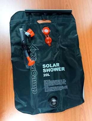 camping showering set , tent+ solar shower. image 1