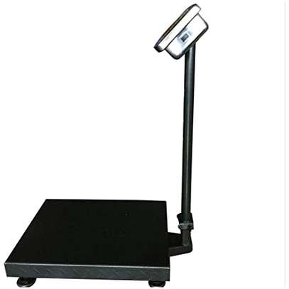 electronic scale with digital display, rechargeable, max. 300 kg image 1