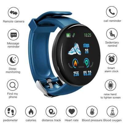 Fitness Tracker  with Heart Rate Blood Pressure Oxygen  Calorie  Waterproof-Blue image 6
