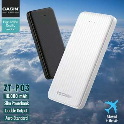 Casim Ultra Thin Power Bank 10,000 mAh with Polymer Battery image 1