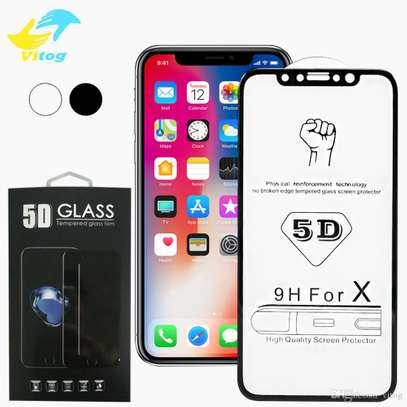 5D Full Coverage Tempered Glass Screen Protector for iPhone X/Xs iPhone XR iPhone XS Max image 1