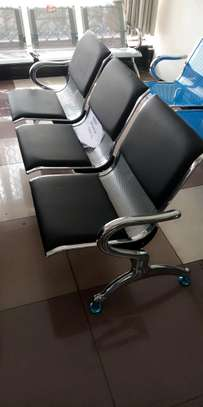 Modern commercial three seater waiting chair image 1